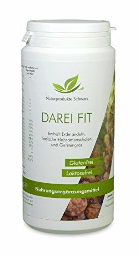 Naturprodukte Schwarz - DAREI FIT - Erdmandel Pulver für Magen, Darm & Verdauung, 250g