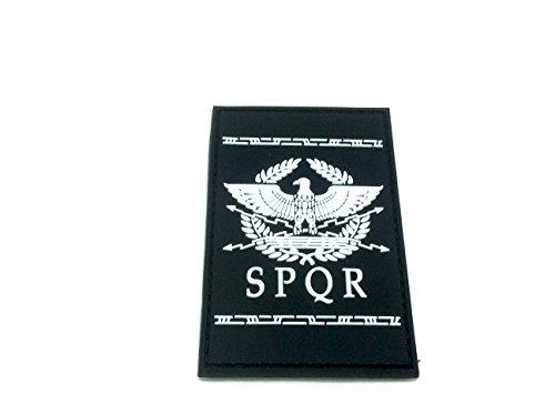 Patch Nation SPQR Antike Römische Republik PVC Airsoft Paintball Klett Emblem Abzeichen (Weiß)