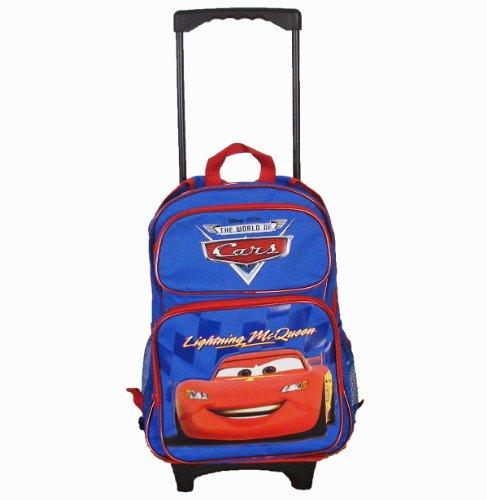Disney de voiture Sac à dos à roulettes 40,6cm Bleu