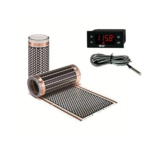 1m 12V Infrarot Heizfolie als Wohnwagen Heizung + 12V Thermostatregler Set