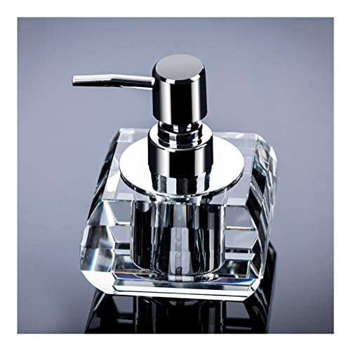Hogar cocina Baño Dispensadores de jabón Dispensadores de ducha hechas artificialmente, Baño botella de detergente, jabón, detergente Manual dispensador de botellas de cristal de vidrio adorno