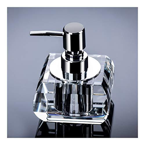 Zaza Dispenser per lozioni, Dispenser Doccia artificialmente, Bagno Detergente Bottiglia, Sapone Manuale Dispenser, Detergente Bottiglia di Vetro di Cristallo Ornamenti scrivania Pompa per Doccia
