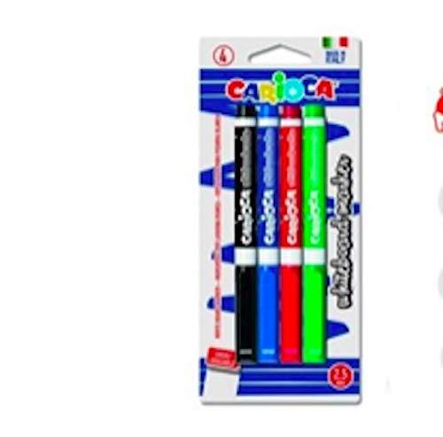 Carioca Clip - Caja de 12 rotuladores borrables para pizarra blanca, color negro: Amazon.es: Oficina y papelería