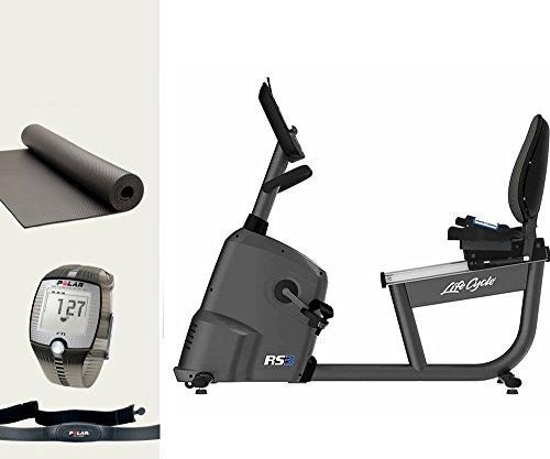 Life Fitness RS3 Go Liegefahrrad, Ergometer und Polar FT1 Pulsuhr inkl. Matte