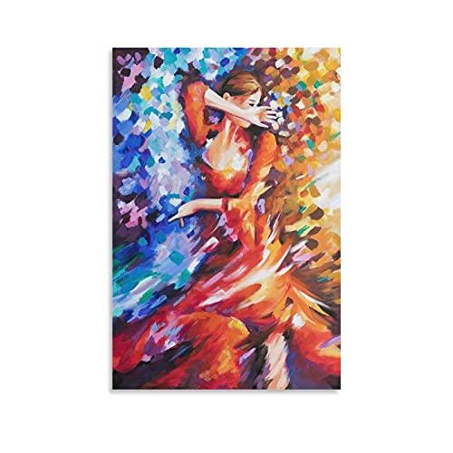 wangjian Pintura de cuerpo humano vestido pintura entretenimiento, póster azul eléctrico para...