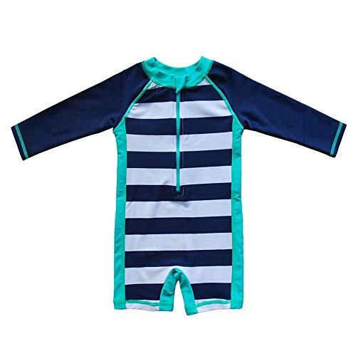 Baby Beach One-Piece Swimsuit UPF 50+ -Sun Protective Sunsuit Blue,12 Months