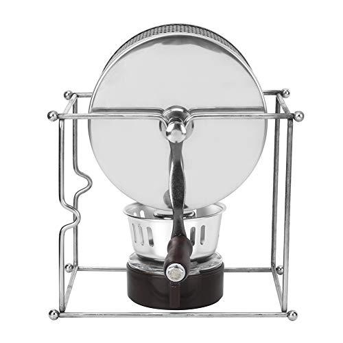 Alinory Manuelle Kaffeebohnen-Röstmaschine Kaffeebohnen-Röster, DIY-Kaffeeröster-Kaffeebohnen-Rollen, Edelstahl zum Backen von Kaffee zu Hause