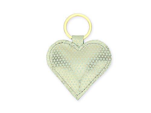 lille mus Schlüsselanhänger Herz – Mint aus Leder