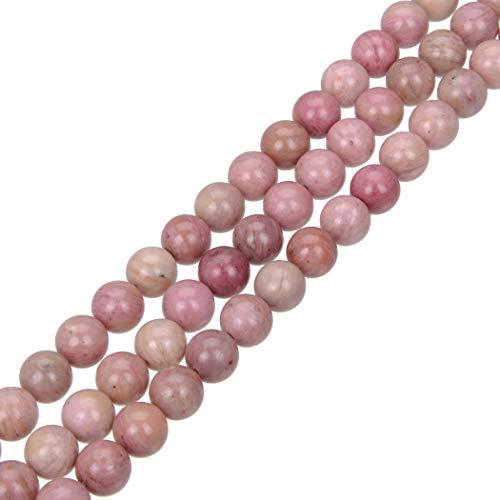 "Top Quality Natural Rhodochrosite Gemstone Beads 8mm Round Loose Beads 15.5"" #GF9-8"