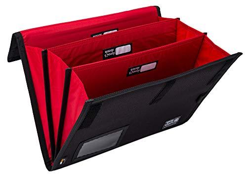 Rough Enough Expanding File Document Folder Bag Accordian File Organizer Accordion Filing Folders Case Portable Portfolio for School Office Travel in Black Cordura