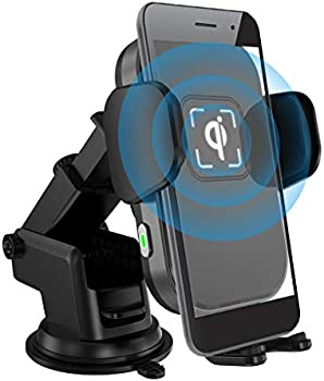 UPXON 10W Wireless Car Charger Auto-Clamping Car Mount