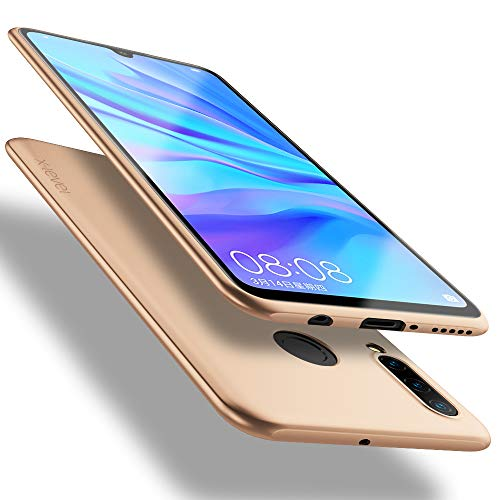 X-level für Huawei P30 Lite Hülle, [Guardian Serie] Soft Flex Silikon Premium TPU Echtes Handygefühl Handyhülle Schutzhülle Kompatibel mit Huawei P30 Lite Hülle Cover New Edition - Gold