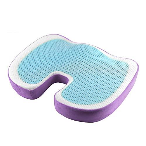 HPRM Cojín de asiento ortopédico de gel de espuma viscoelástica mejorada para silla de oficina, cojín de asiento de espuma viscoelástica, coxis, ciática y silla de escritorio