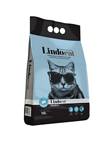 LINDOCAT Advanced Light Plus Lettiera Micro Agglomerante Bianca per Gatto da 10 Litri Extra Leggera