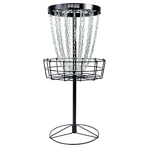 MVP Black Hole Pro HD 24-Chain Portable Disc Golf Basket Target