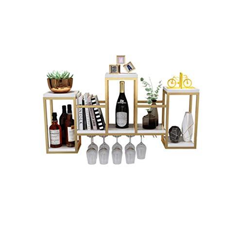 Bandeja de almacenamiento Tenedor de pared para estantes de vino, soporte de copa de vino colgante, estante de pared Estante de almacenamiento, estante de exhibición de decoración de bar, aplicación d