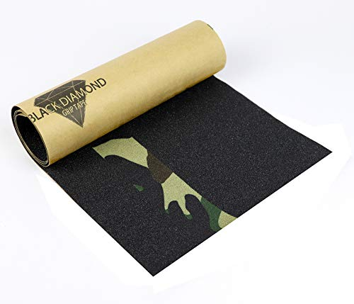 Skateboard Griptape von BlackDiamond Grip-Tape Woodland Camouflage 9x33 inch slebstklebend