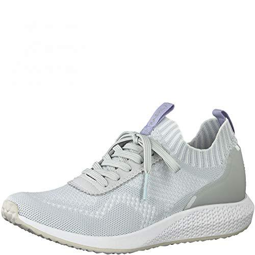 Tamaris Damen Low-Top Sneaker, Frauen Halbschuhe,lose Einlage,weiblich,Lady,Ladies,Women's,Woman,schnürschuhe,schnürer,Light Grey,38 EU / 5 UK