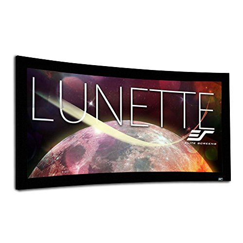 Elite Screens Lunette Series, 103-inch Diagonal 2.35:1, Sound Transparent Perforated Weave Curved Home Theater Fixed Frame Projector Screen,...