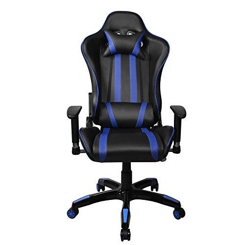 Hollylife reclinabile LOL Gaming Racing Chair [Versione aggiornata] Lombare Cuscino Girevole scrivania Sedia da Ufficio