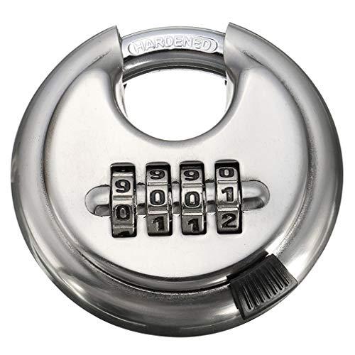 Simiday Bloqueo 4 combinación del dígito de la contraseña de Bloqueo de Acero Inoxidable Seguridad Maleta de Equipaje con código de Bloqueo del gabinete Locker Candado