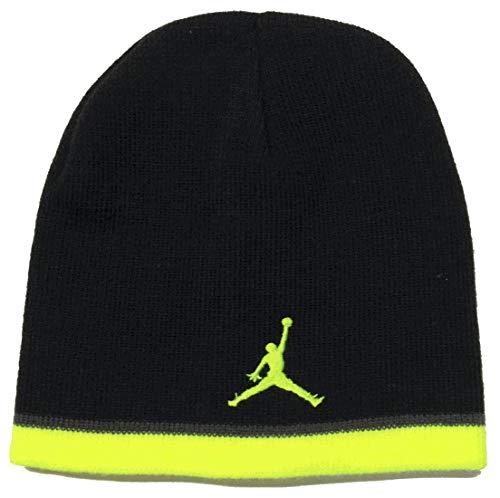 Nike Air Jordan Jumpman Youth Black/Volt Knit Skull Cap (8/20)