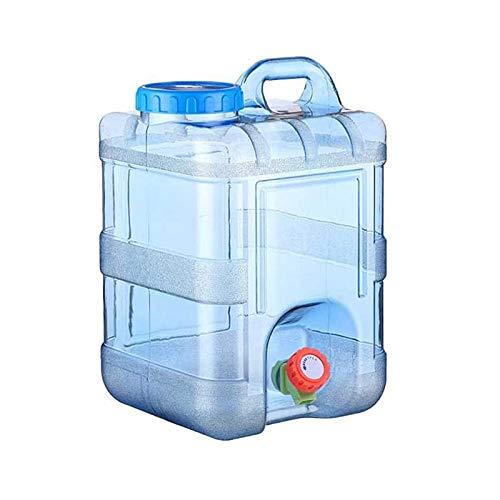 Gnohnay 20L Recipiente Agua con Grifo, Cubo Almacenamiento Agua para Acampar, Tanque Almacenamiento Agua para Automóvil, Recipiente Agua Portátil, Senderismo, Escalada