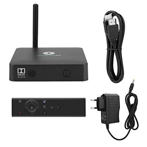 Garsent Android TV Box, 2G + 16GB Quad-Core S905X Sprachsteuerung Smart Digital TV Box Unterstützung 4K Full HD 2.4G WiFi Bluetooth 4.2(EU)