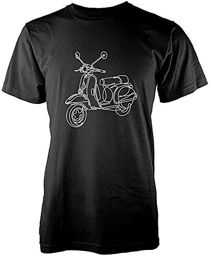 XUELIANG Scooter Vespa Scribble Drawing Men's Graphic T Shirt_2746