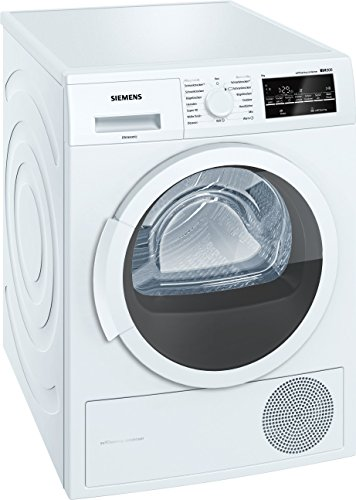 Siemens WT45W4A1 iQ500 Wärmepumpentrockner / A++ / 8kg / selbstreinigender Kondensator / softDry-Trommelsystem / super40 Programm / Sensorgesteuerte autoDry-Technologie / weiß