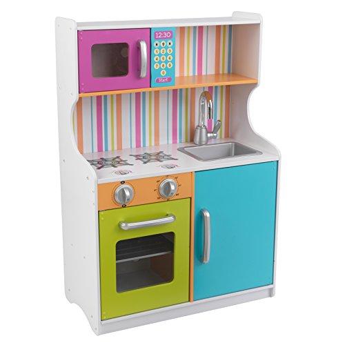 KidKraft 53378 Cocina de juguete Bright Toddler de madera para niños en colores brillantes