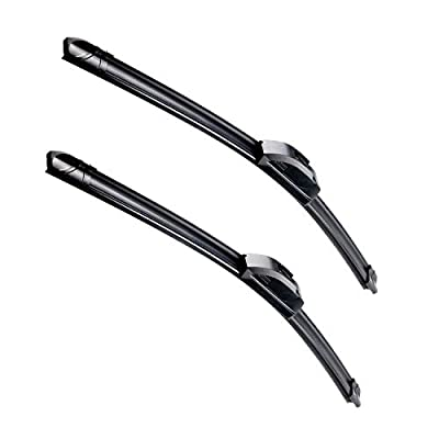 OEM Quality 24''+21'' Premium All-Season Auto Windshield Natural Rubber J-Hook Wiper Blades(Pack of 2)