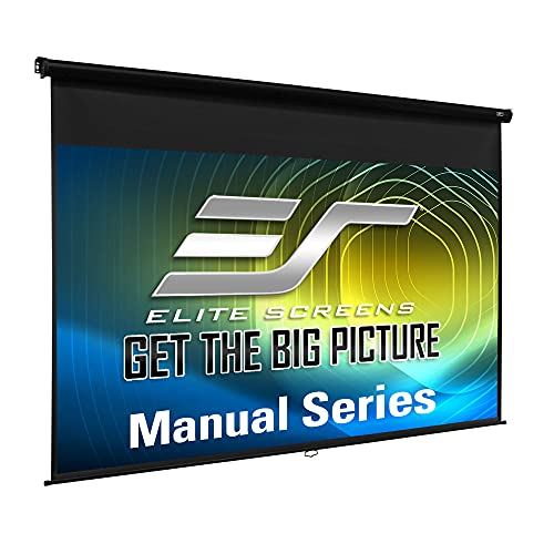 Elite Screens Manual Series, 150-INCH 16:9, Pull Down Manual Projector Screen with AUTO LOCK, Movie Home Theater 8K / 4K Ultra HD 3D Ready, 2-YEAR WARRANTY, M150UWH2