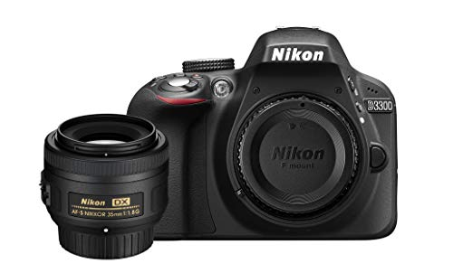 Nikon D3300 DSLR Body (Black) w/ 35mm F/1.8G