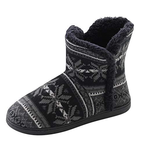 POLP Zapatillas de algodón Cálidos Mujer Botas de algodón Zapatillas de Estar por casa Botas de Nieve Suaves Zapatos de algodón Botas Mujer Planas Invierno