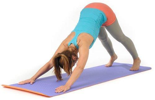 Yogamatte STUDIO extraleicht Gymnastikmatte Pilates Matte Lila Orange Aubergine