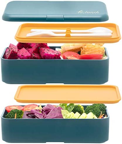 Bento Boxes For Kids Adults 1200 ML All in One Stackable Premium Japanese Bento Lunch Box Container product image