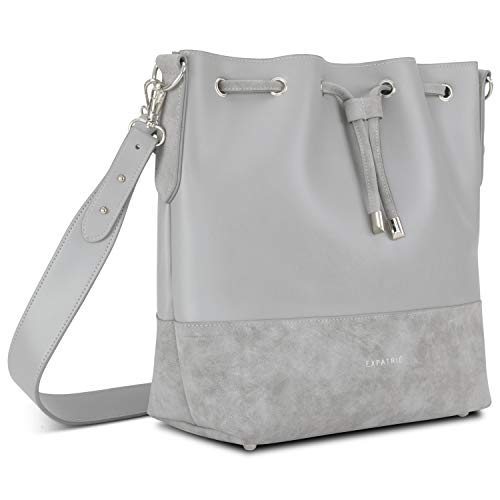 Handbag Women Girls Grey - Expatrié SARAH Shoulder Bag Made of Vegan Synthetic Leather for Leisure & Work - Stylish & Sleek Crossbody Bag