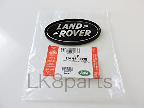 Genuine Land Rover DAH500330 Rear Body Oval Badge (Black and Silver) for Range Rover Supercharged and Evoque 5-Door