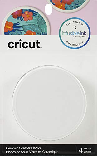 Cricut Coaster Blanks, Ceramic Infusible Ink, White