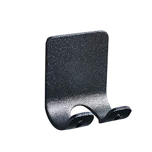 Perchero Negro sin Perforaciones, Perchero de Aluminio Space, Perchero de Pared para baño, 4