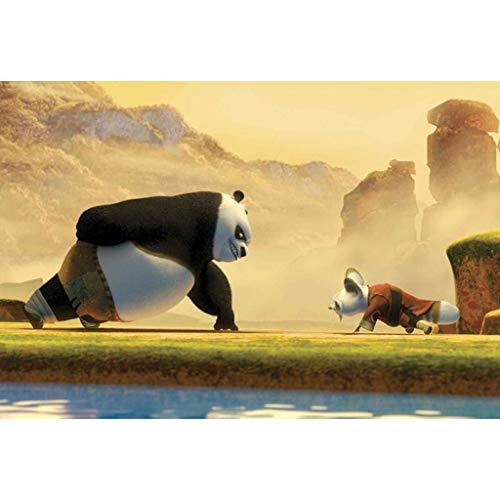 puzzles Película Kung Fu Panda 3 1000 Rompecabezas De Madera Juguetes Educativos para Niños Adultos Descompresión(Size:300pc)