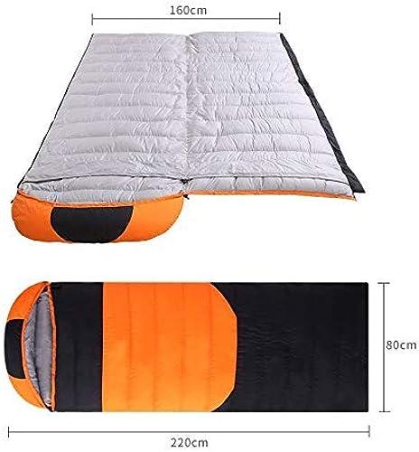 Sac de Couchage en Duvet extérieur épais et Chaud en Hiver et en Hiver. Sac de Couchage de Type Camping. Sac de Couchage en Plein air Portable.