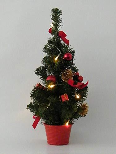 Best Season SA000016, LED-Weihnachtsbaum mit Dekoration, Plastik, grün, 18 x 18 x 45 cm