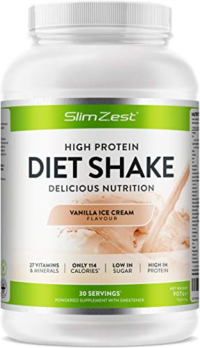 Diet Shakes - Meal Replacement Shakes - High in Protein - Stay Fuller for Longer - 27 Essential Vitamins and Mineral - Low Carbs - Low Sugar Delicious Smooth Thick Shakes - for Men and Women