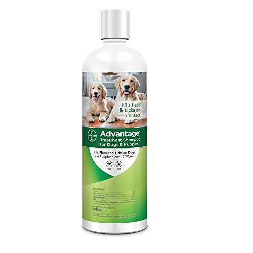 Advantage Flea and Tick Treatment Shampoo for Dogs and Puppies, 24 oz