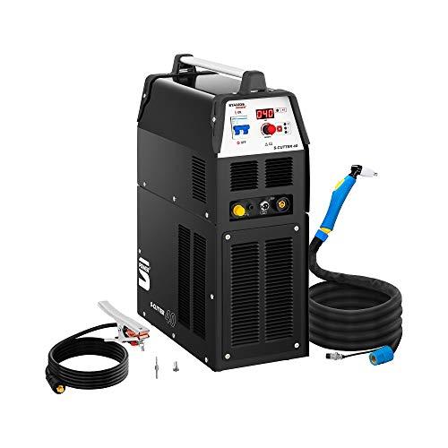 Stamos Welding Plasmaschneider Plasmaschneidgerät Schweißgerät S-CUTTER 40 (14-40 A, 230 V, Einschaltdauer 60%, Schneidleistung bis 12 mm, digitale Schneidstromanzeige, 2T/4T)