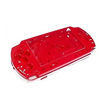 OSTENT Full Housing Shell Faceplate Case Parts Replacement Compatible for Sony PSP 2000 Console Color Red