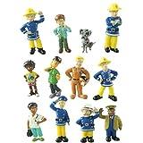 ZAMTAC 12Pcs/lot Anime Fireman Sam Toys Action Figures Mini Figurines Set Decoration Cartoon PVC Firefighters Model Dolls Kids Toy Gift - (Color: 12Pcs, Size: 3-6cm)