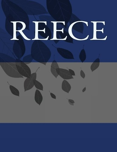 Reece: Personalized Journals – Write In Books – Blank Books You Can Write In